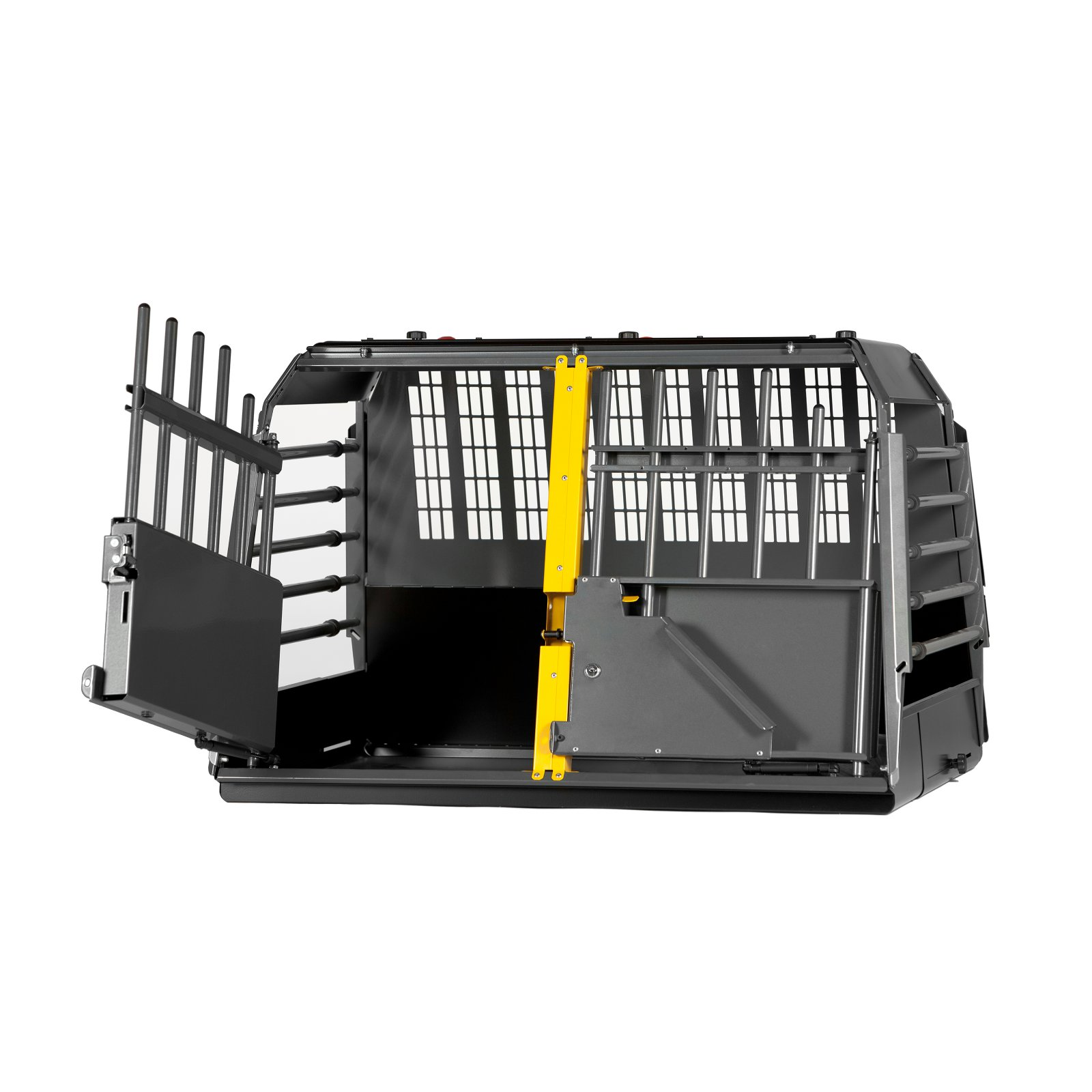 Click here to buy 4x4 North America Variocage Double Crash-Tested Dog Cage by 4x4 North America.