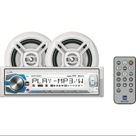 Dual Mcp135bt Single-din In-dash Marine Digital Media Receiver System With Bluetooth[r] & Speakers