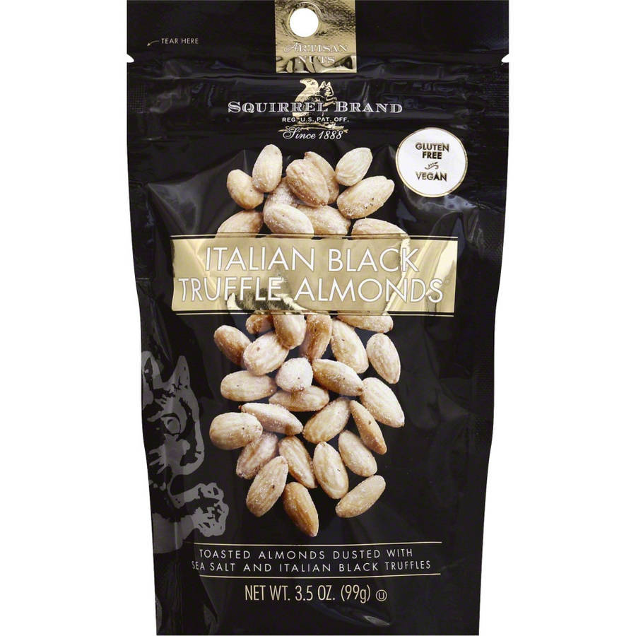 Squirrel Brand Italian Black Truffle Almonds, 3.5 oz., (Pack of 6)