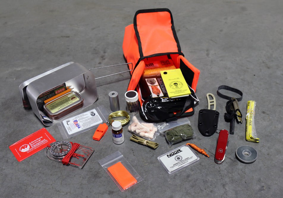 ESEE Large Tin Survival Kit and Pouch Orange by ESEE