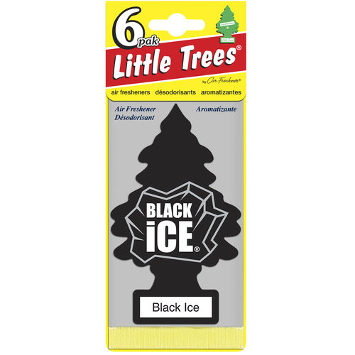 Little Tree Air Freshener, 6pk, Black Ice
