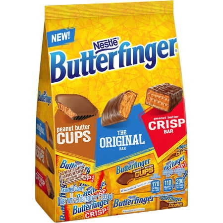 Best of Butterfinger, Peanut Butter Cups, Original & Crisp, Candy, 35.9Oz. Stand Up Bag
