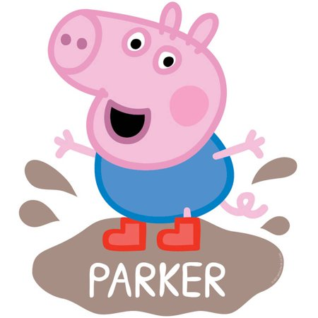Personalized Peppa Pig George Mud Puddle Easy-Move Canvas Decal
