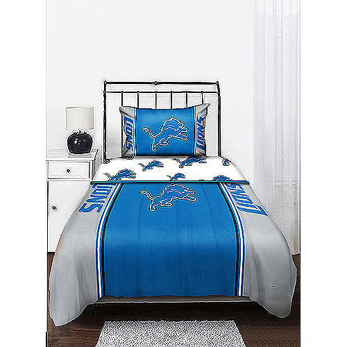 NFL Mascot Bedding Comforter Set with Sheets, Lions