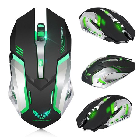 Rechargeable X70 2.4GHz 7 Color LED Backlit Bluetooth Wireless USB Optical Gaming Mouse Mice For Computer (Bluetooth Optical Mouse)