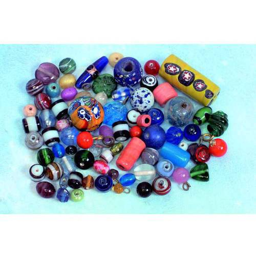 School Specialty Glass Indian Bead Assortment, 1/2 Pound