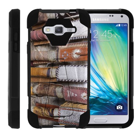 Samsung Galaxy J3  Amp Prime   Express Prime  Samsung Sol  J3v Case Heavy Duty Silicone Gel And Pc Combo Phone Cover With Unique Hunting Gear By Miniturtle    Leather Knives