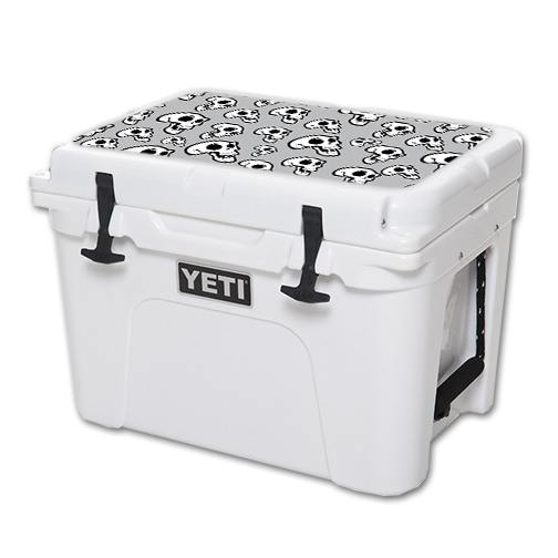 MightySkins Protective Vinyl Skin Decal for YETI Tundra 35 qt Cooler Lid wrap cover sticker skins Laughing Skulls