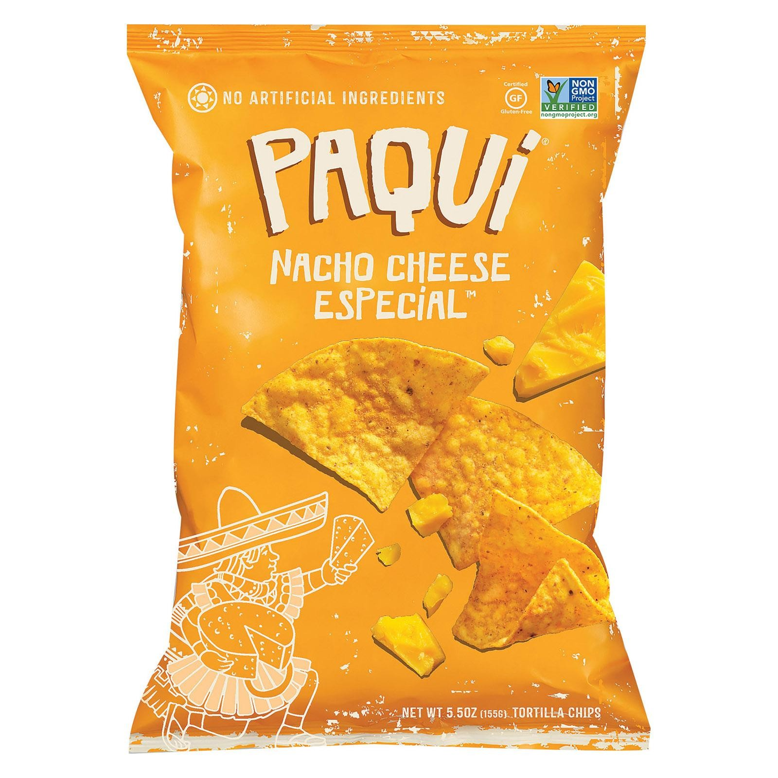 Paqui Tortilla Chip - Nacho Cheese Special - pack of 12 - 5.5 Oz.