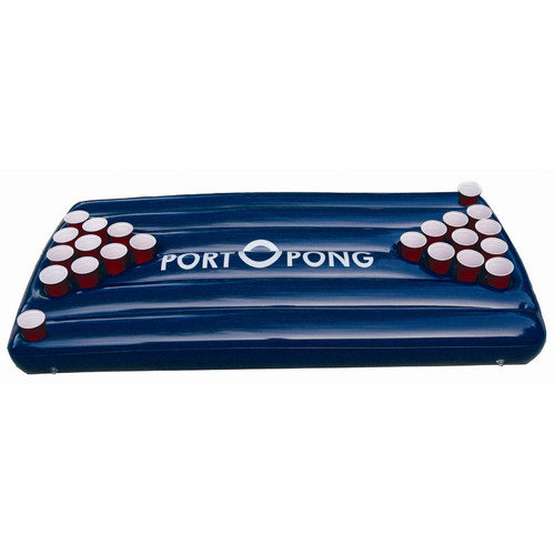 PortoPong Inflatable Beer Pong Table in Blue