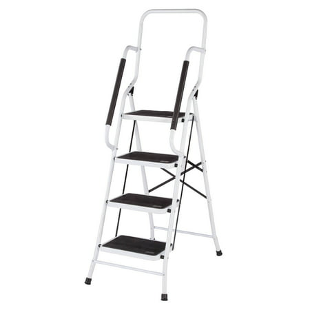 Folding Four Step Ladder with Handrails by (Low Ladder)