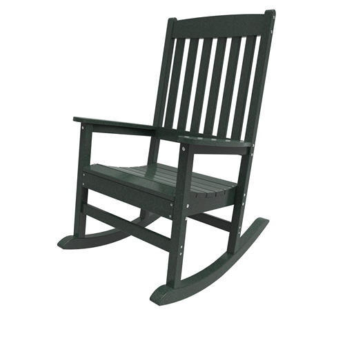 Porch Rocker by Malibu Outdoor - Glendale, Turf Green