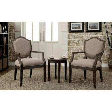 Furniture of America Caroline 3-piece Living Room Furniture Set Multi-color stripe