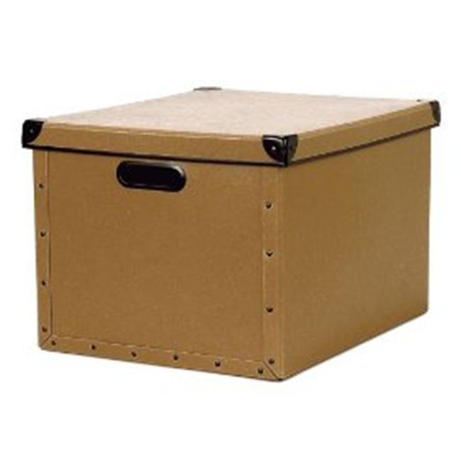 Resource International 8060421 Cargo Naturals Dual File Box- Nutmeg