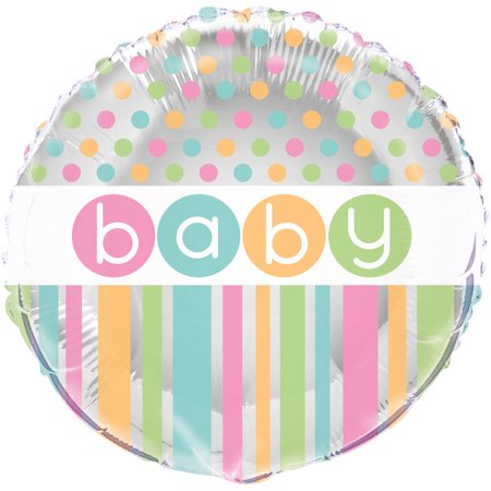 Foil Pastel Baby Shower Balloon, 18 in, 1ct (Pastel Balloons)