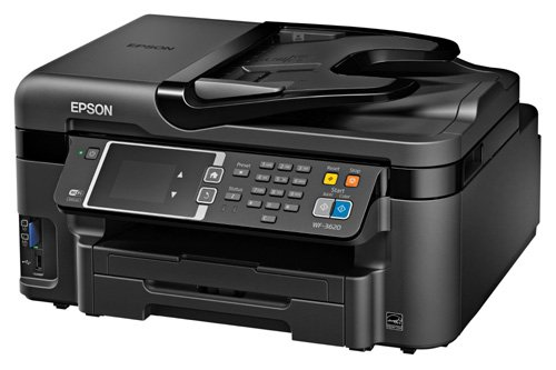 Epson WorkForce WF-3620 WiFi Direct All-in-One Color Inkjet Printer, Copier, Scanner by Epson
