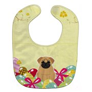 Carolines Treasures BB6007BIB Easter Eggs Pug Brown Baby Bib