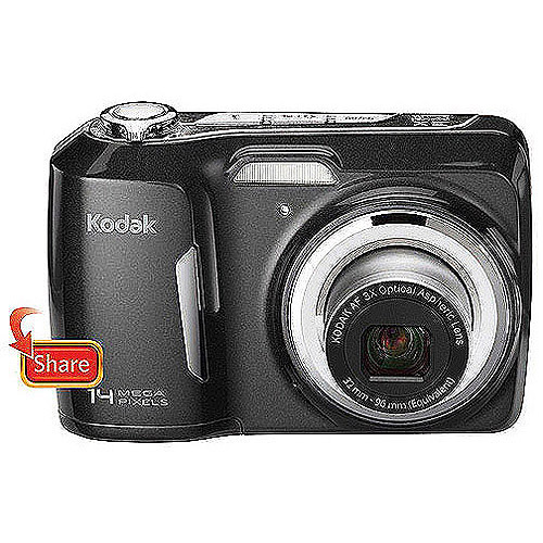 "Kodak EasyShare C183 Black 14MP Digital Camera w/ 3x Optical Zoom, 3.0"" LCD Display, One Button Upload"