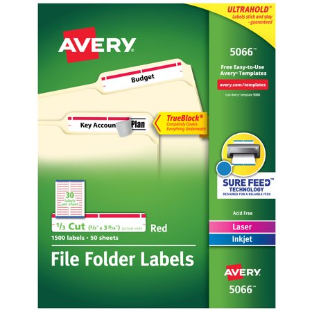 Bentley Arnage Red Label - Avery TrueBlock File Folder Labels, Sure Feed Technology, Permanent Adhesive, Red, 2/3