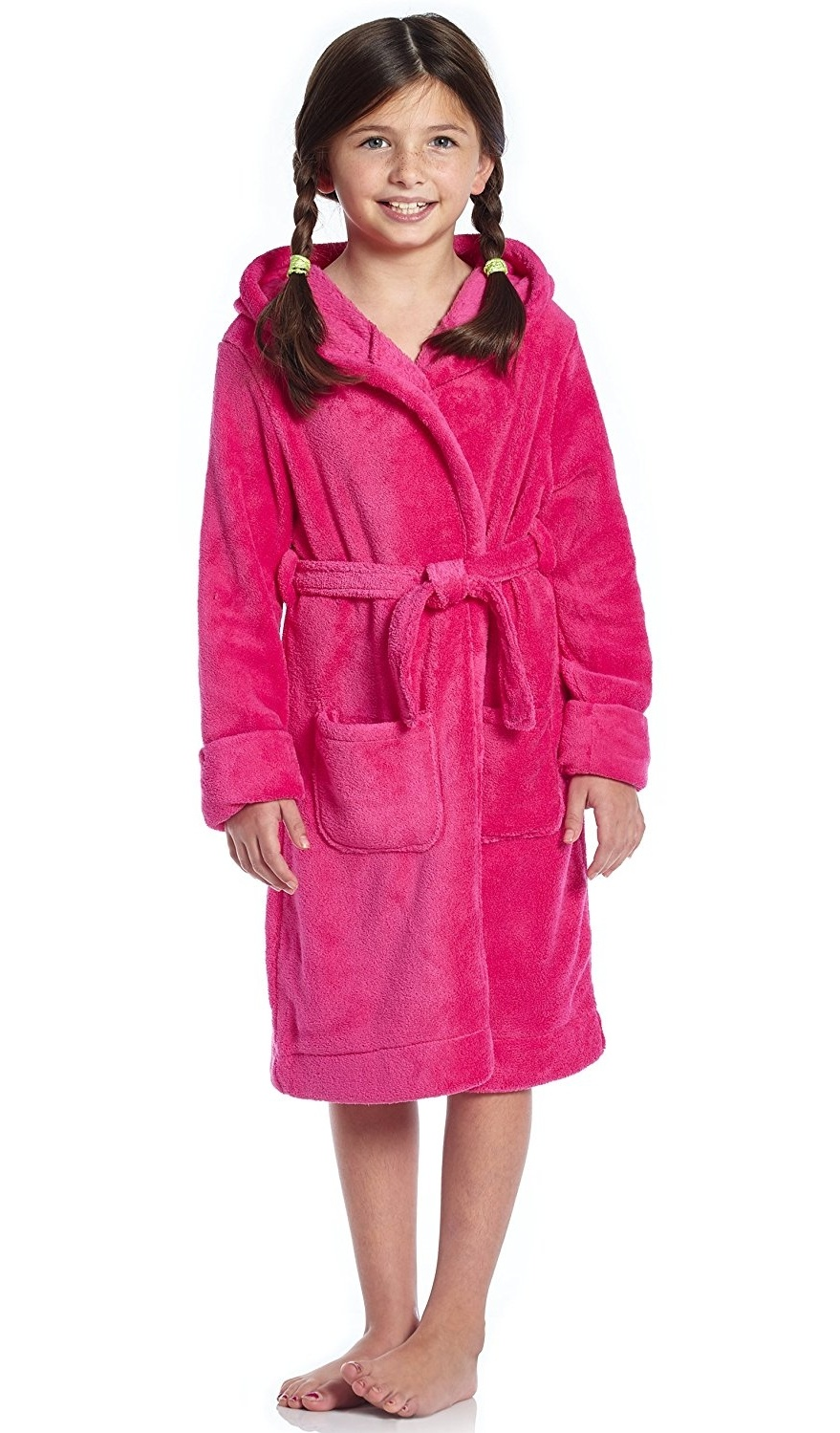Leveret Kids Robe Boys Hooded Fleece Sleep Robe Bathrobe 2 Toddler-14 Years Variety of Colors