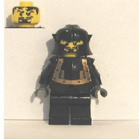 Lego Evil Knight In Black And Gold Armor From 10176 Royal Kings Castle