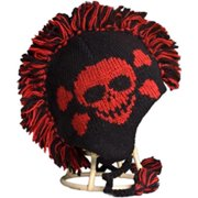 Nirvanna Designs CH120M Black-Red Skull Mohawk