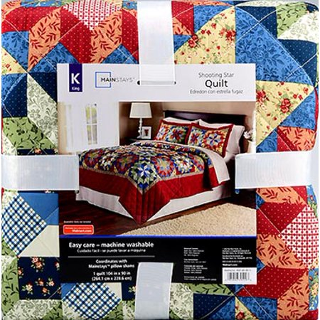 Mainstays Shooting Star Classic Patterned Red King Quilt