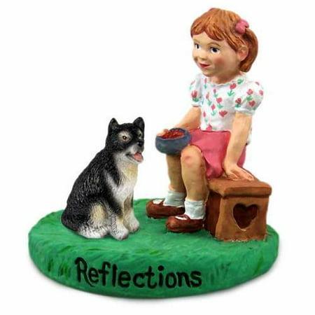 RGD108 Alaskan Malamute Reflections w/Girl Figurine