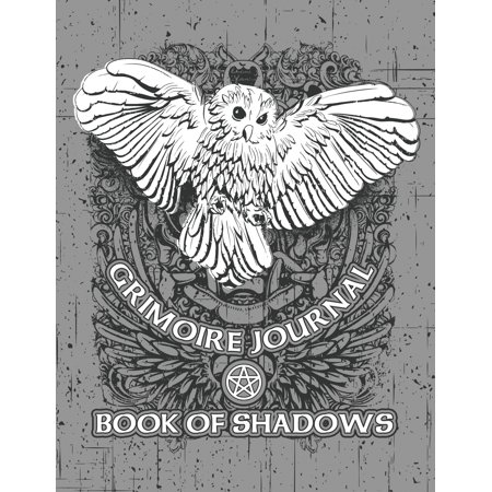 Grimoire Journal Book of Shadows : White Owl Pagan Spell Book ()
