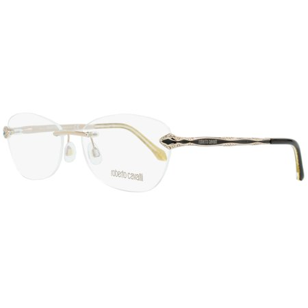 Roberto Cavalli Rimless Eyeglasses RC814 Alkres 028 Size: 58mm Rose Gold/Black (Rimless Eyewear Frames)