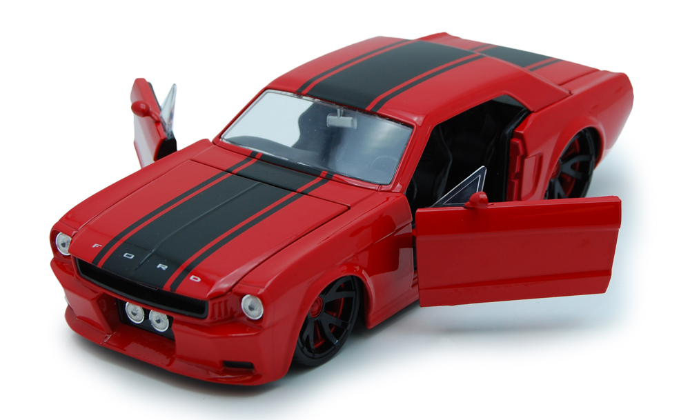 1965 Ford Mustang, Red Jada Toys Bigtime Muscle 90545 1 24 scale Diecast Model Toy Car... by Jada