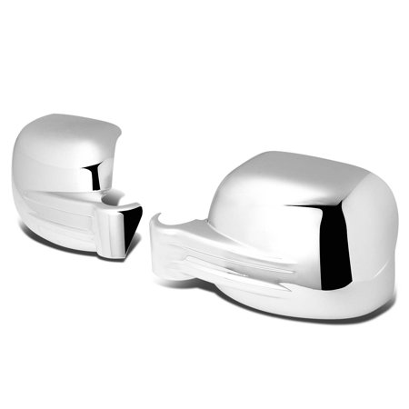 For 02-07 Jeep Liberty KJ Pair of Exterior Side Door Mirror Covers (Chrome) 03 04 05 06 Chrome Side Door Mirror Cover