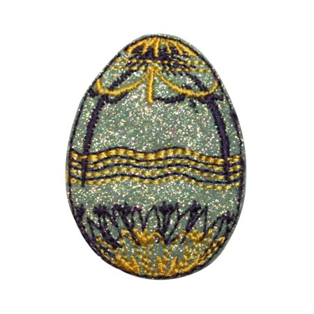ID 3340 Faberge Easter Egg Patch Decorative Jeweled Embroidered Iron On Applique ()
