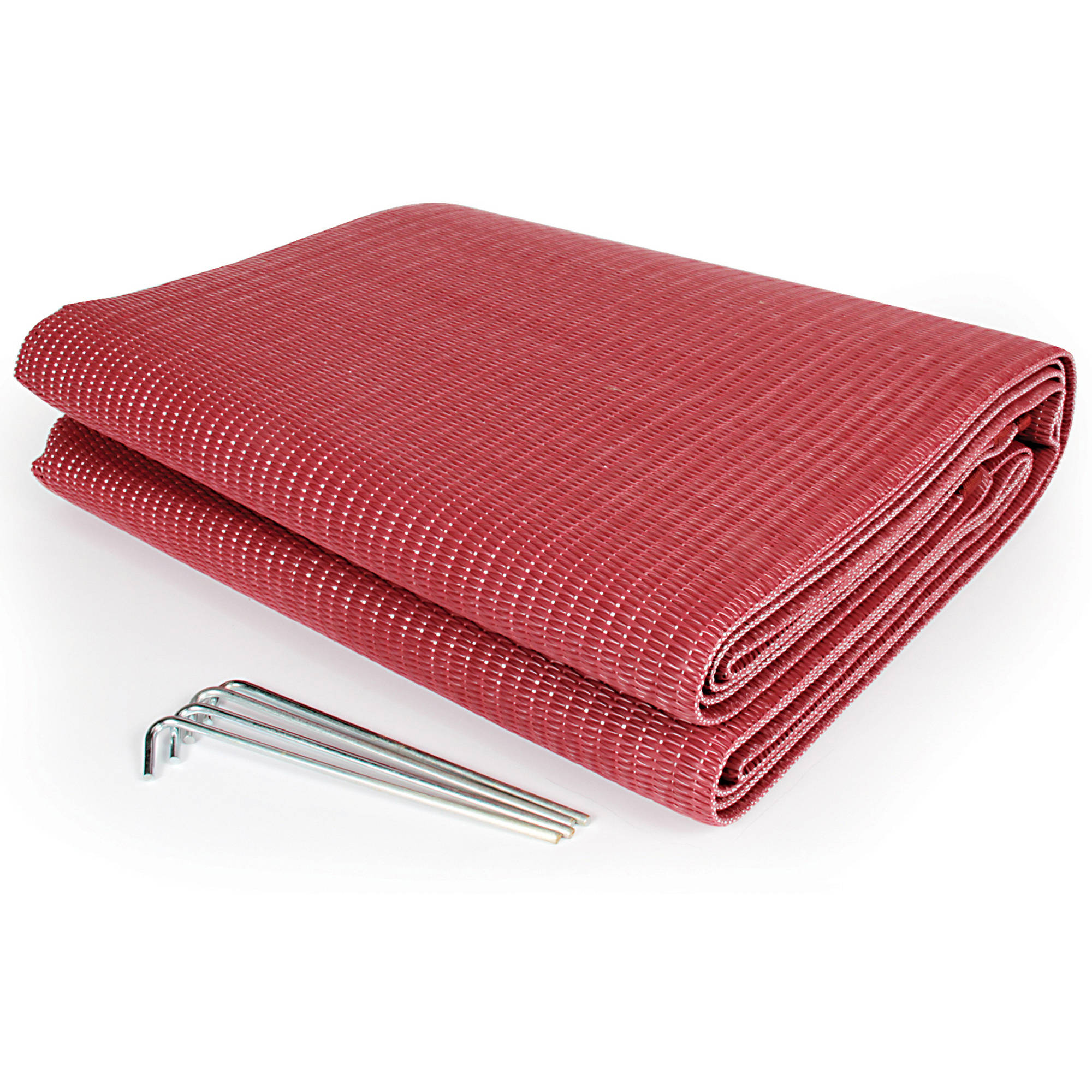 Camco 42882 Reversible Awning Leisure Mat, 6' x 9', Burgundy