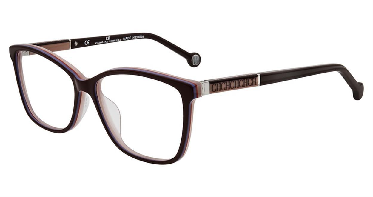 757fd0bd700 CH Carolina Herrera Eyeglasses VHE672K VHE 672K 0M56 Burgundy ...