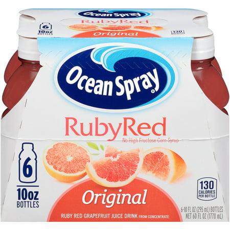 (2 pack) Ocean Spray Juice, Ruby Red Grapefruit, 10 Fl Oz, 6