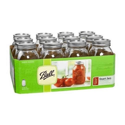 Ball Regular Mouth Canning Jar 12 Pkg Quart by Jarden Home Brands