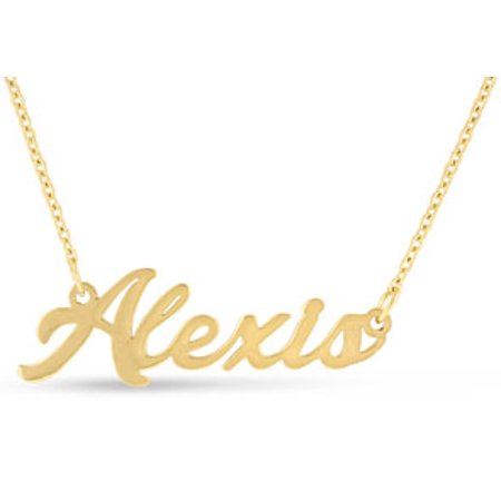 Alexis Nameplate Necklace In Gold