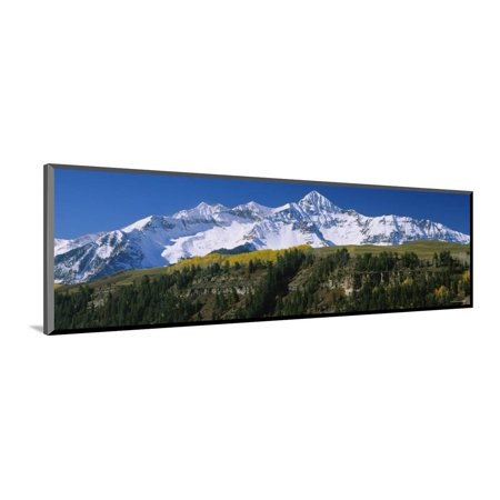 Snowcapped Mountains on a Landscape, Blanca Peak, Mt. Lindsey, San Luis Valley, Colorado, USA Wood Mounted Print Wall - Lindsay Woods Halloween