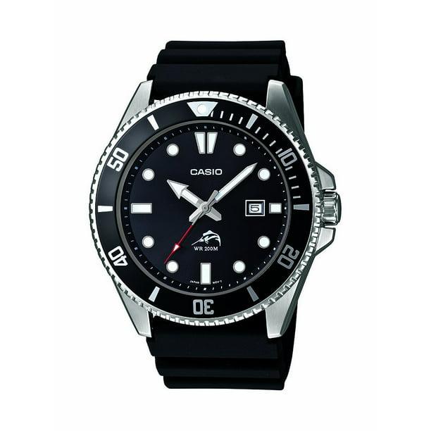Casio Men's Black Dive-Style Sport Watch MDV106-1AV