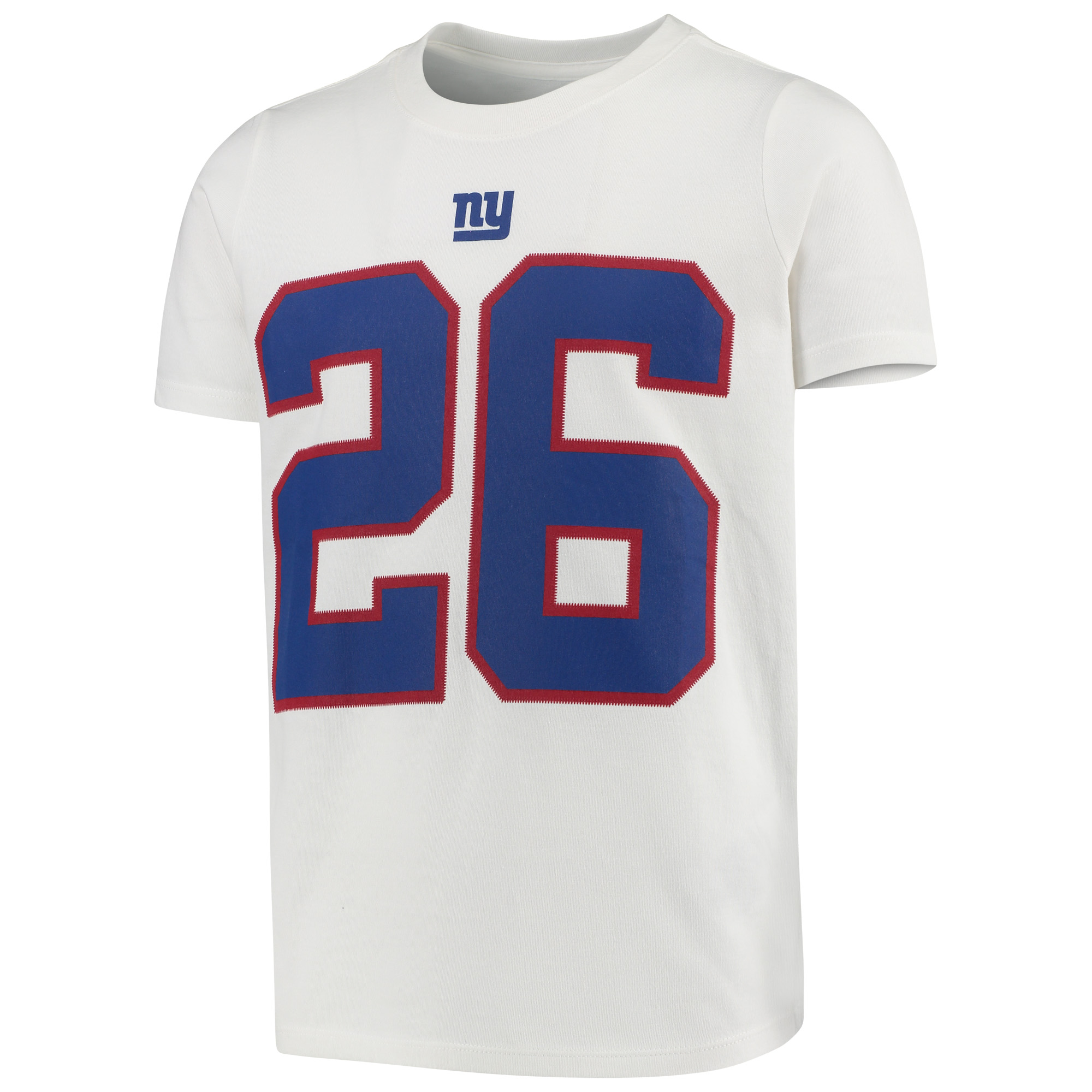 on sale 14a50 82a36 Saquon Barkley New York Giants Nike Youth Color Rush Player Name & Number  Performance T-Shirt - White