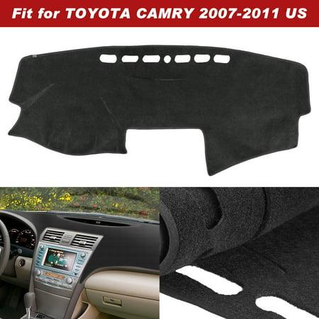TSV For Toyota Camry Dash Cover Mat Pad - Fits 2007-2011 Custom Velour, Black