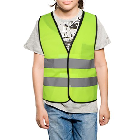 GOGO Child Reflective Vest For Outdoors Sports, Safety Vest, Preschool Uniforms-NeonGreen-L](Construction Vest For Kids)