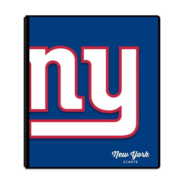 New York Giants Classic 1 Inch 3 Ring Binder, 2 Pockets