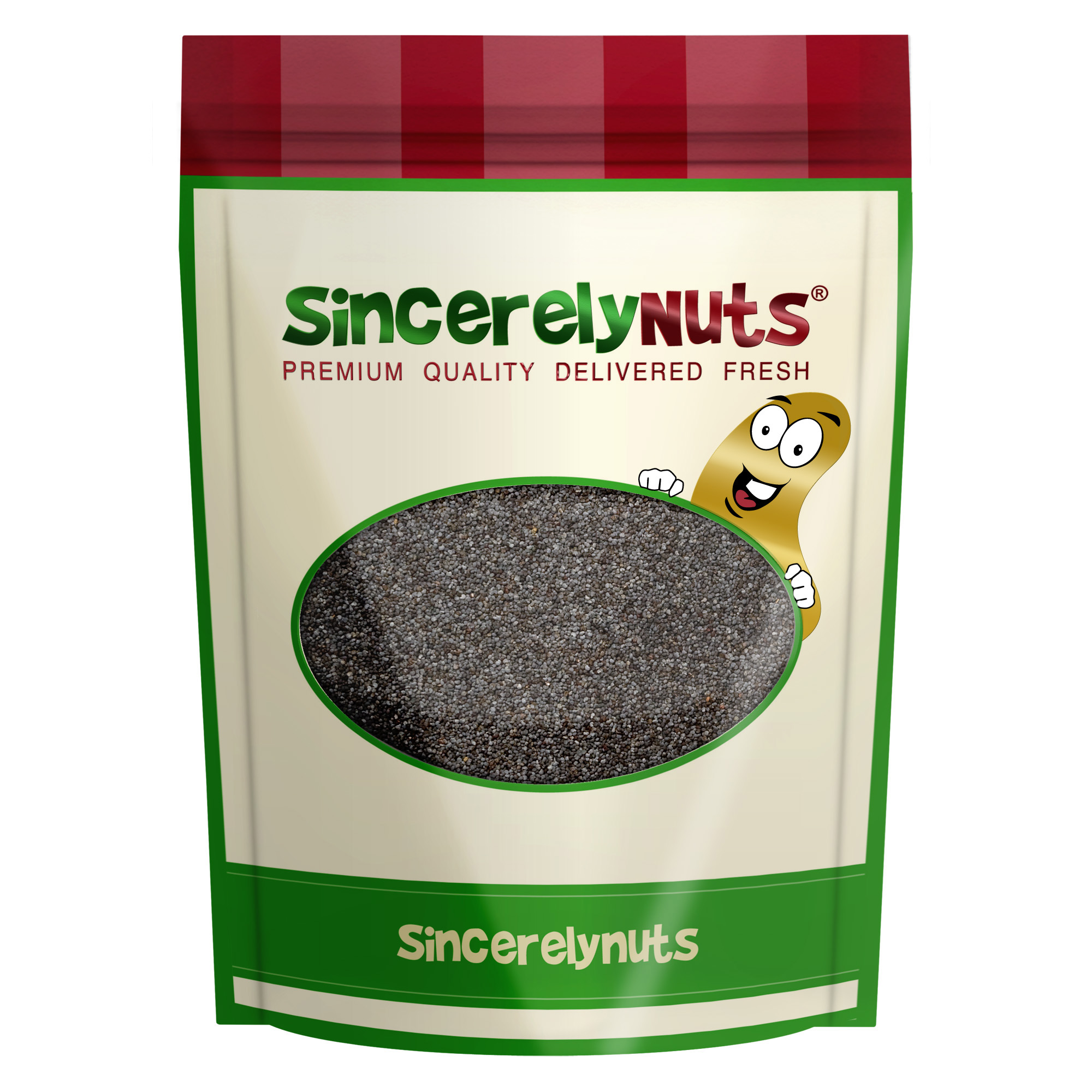Sincerely Nuts Whole Blue Poppy Seeds (SPAIN) 5 LB Bag by Sincerely Nuts