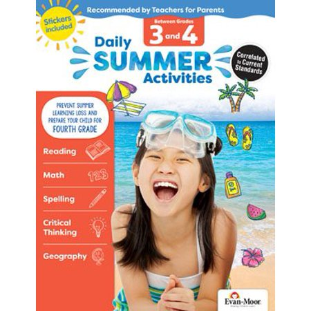 Daily Summer Activities : Moving from 3rd Grade to 4th Grade, Grades 3-4