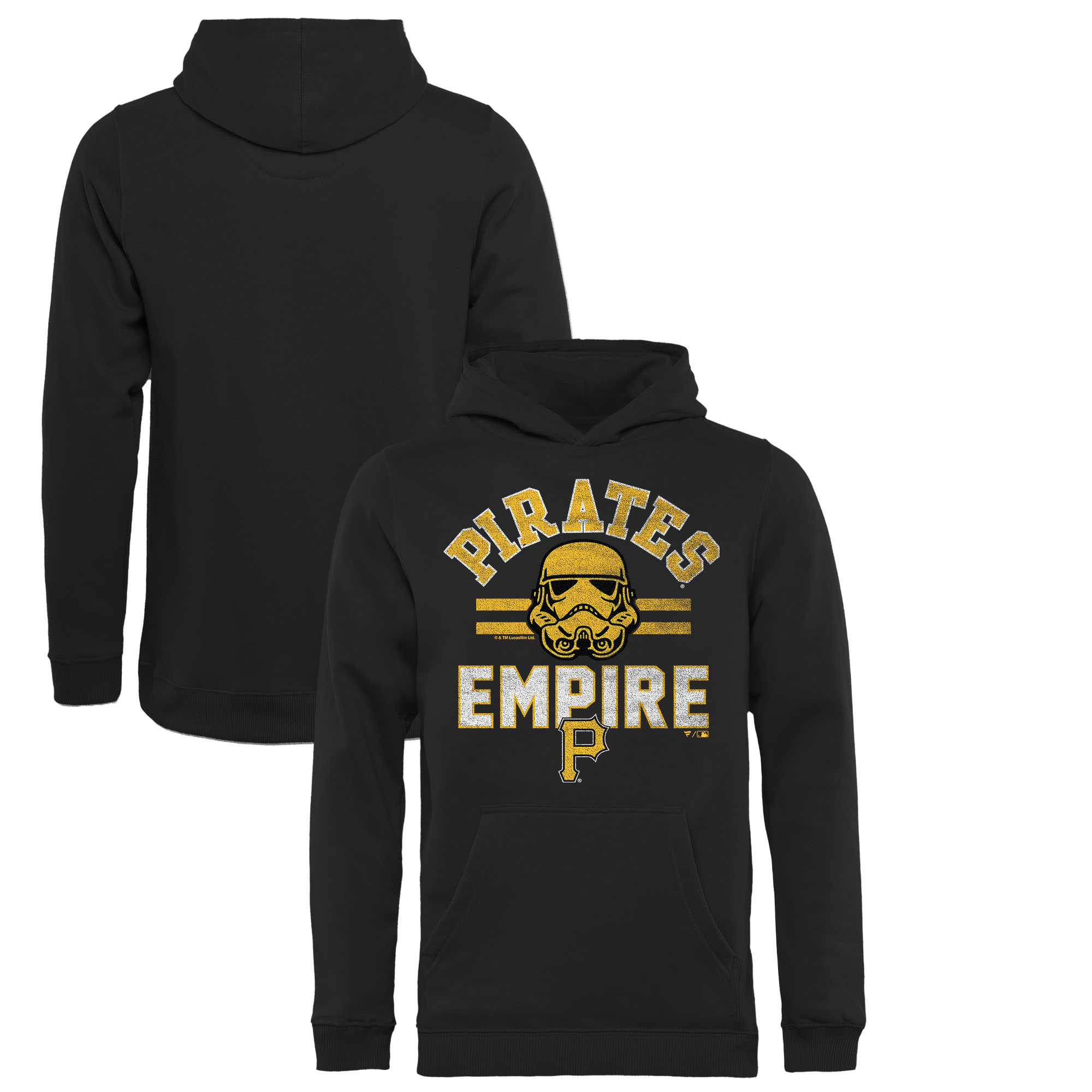 Pittsburgh Pirates Fanatics Branded Youth MLB Star Wars Empire Pullover Hoodie - Black