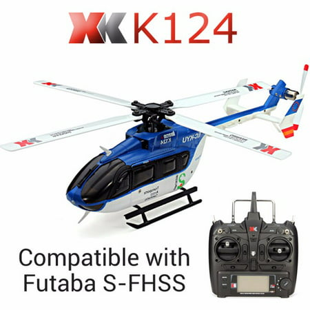 XK K124 6CH Brushless EC145 3D6G System RC Helicopter RTF Compatible with FUTABA S-FHSS Gifts
