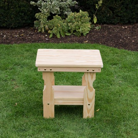 Amish Heavy Duty Pressure Treated End Table (Unfinished)