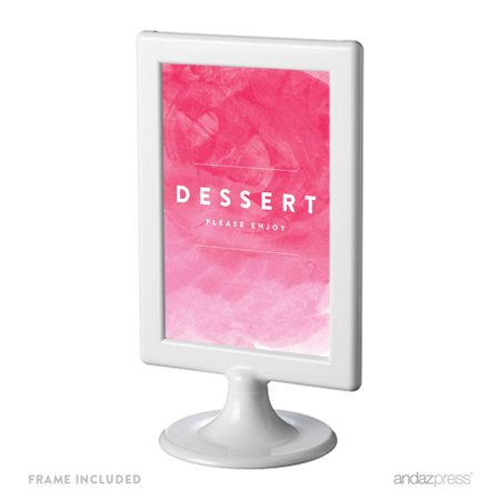 Dessert Table Pink Watercolor Wedding Framed Party Signs